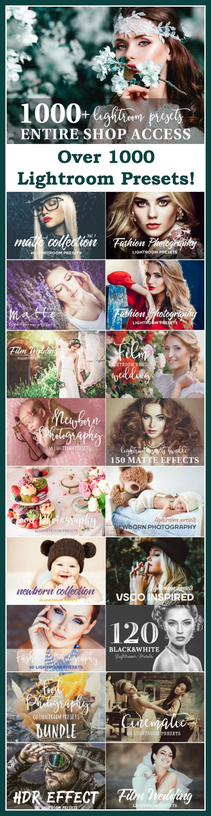 Woah! This is a fab set of lightroom presets! Lightroom Presets Bundle 1000+ Professional Photo Editing Tools for Portrait | Newborn | Wedding Photographers #ad
