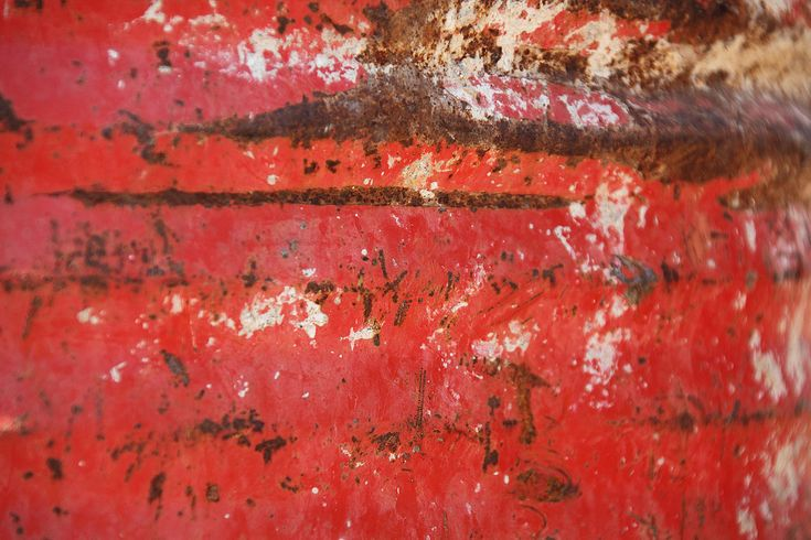 Rust On Red Metal