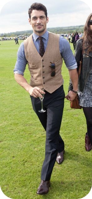 possible brads wedding (vest with blue and tie)