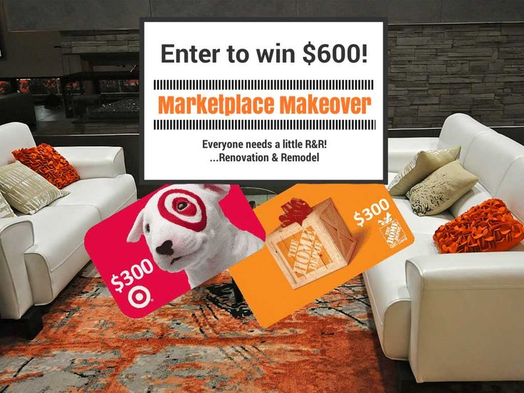 A chance to win a $300 Target gift card and a $300 Home Depot gift card! Enter now.