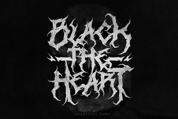 Heartless- Great Deathmetal Font by Lettersiro #typeface