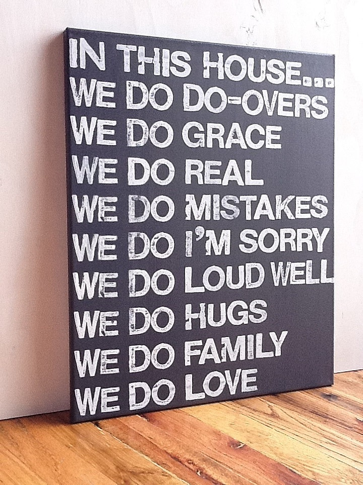 Need.: Graphite Gray, Living Rooms, Families Rules Signs, 16X20 Canvas, Words Art, Canvas Signs, In This Houses, Rooms Decor, Family Rules