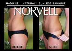 Get a natural looking bronzed glow with a Norvell spray tan. 509-961-6555 www.bareblissyakima.com #spraytan #norvell