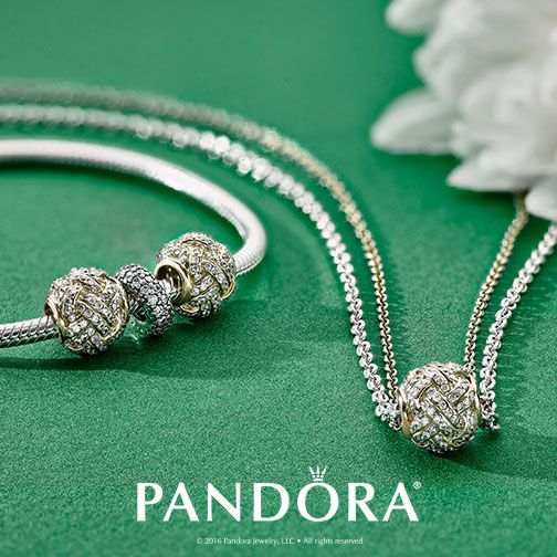 Have a sterling silver and 14k gold chain? Wear them together with your favourite PANDORA charm. It is simple yet reflects your own personal style.