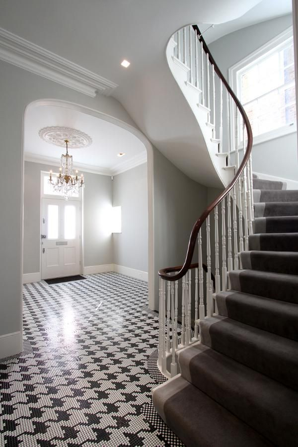 Another View Of The Amazing Black And White Houndstooth Floor Design Using  Small Tiles. Designed