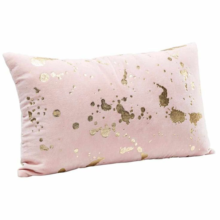 Splash of Gold Cushion - Pink French Bedroom Cushion