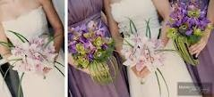 Orchid Bridal and bridesmaid bouquets