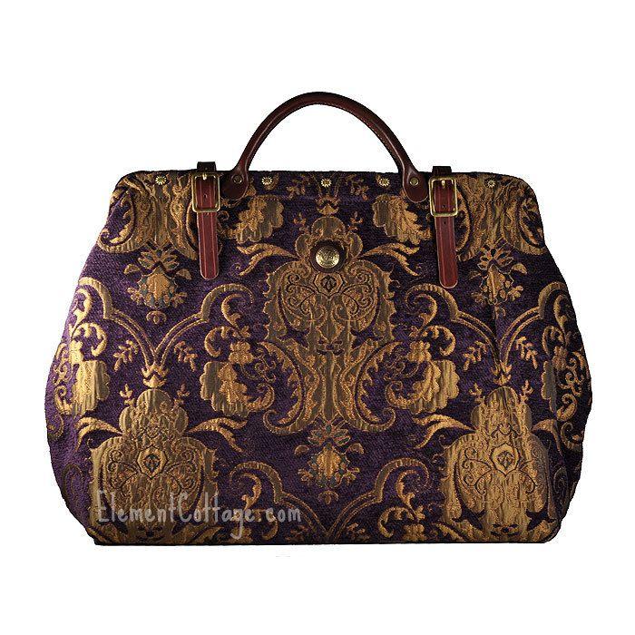 Purple Carpet Bag by Victorian Traveler   LG Bella Donna - Element Cottage
