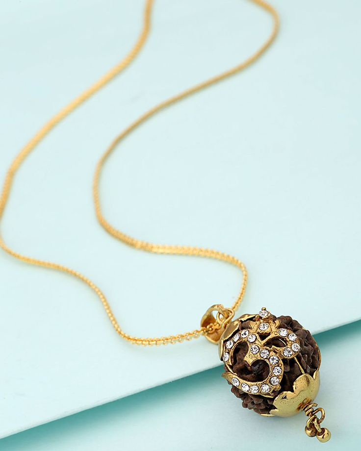 Rudraksha With OM Pendant With Chain