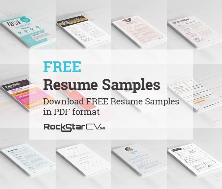 Download FREE Resume Samples in PDF format!