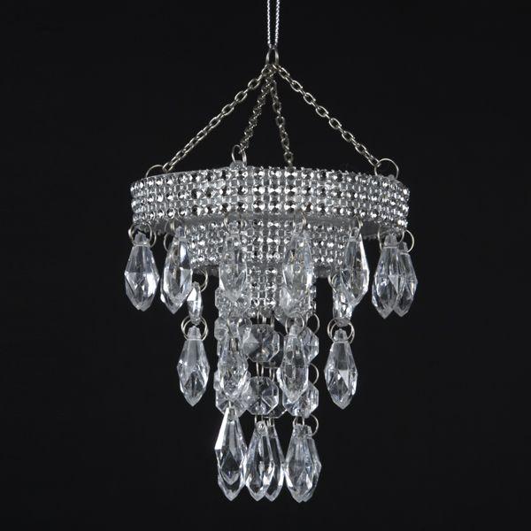 Kurt Adler Plastic Chandelier Ornament T0807