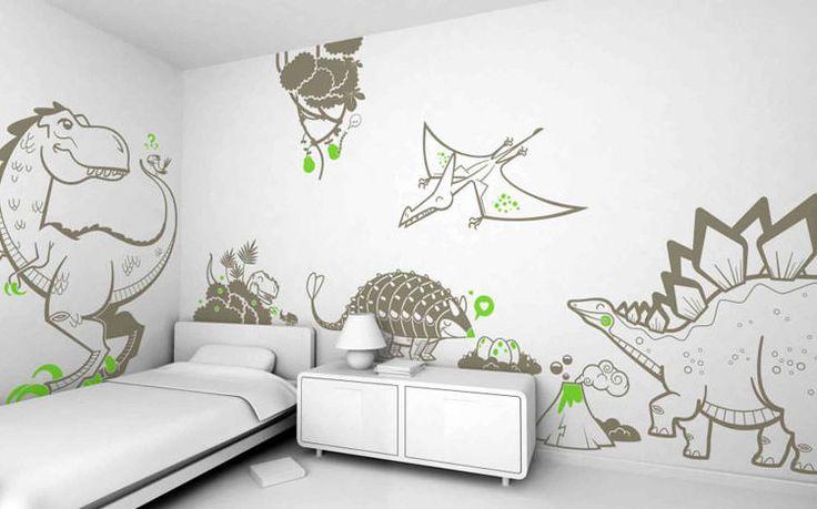 30 camerette per ragazzi con pareti decorate camere da for Decorazioni pareti camere ragazzi