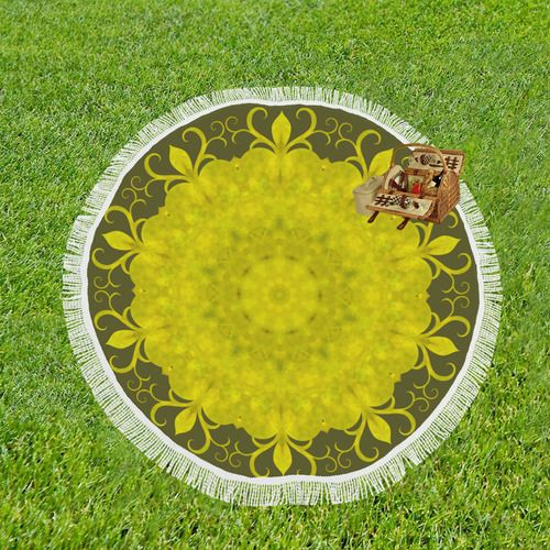 "Jade Mandala Circular Beach Shawl 59""x 59"" #beachshawl #Reiki #mandala #kaleidoscope #heartchakra #crystals #green #jade #goodluck #luck #abstract * 13.21 Oz. Made of polyester 95%, spandex 5%, easy to clear. * Lightweight, Sunscreen and could be folded away compactly. * Can be used as Beach Throw, Beach Wrap-around, Bed Throw, Table Throw etc. * Economic and Elegant, Perfect for Holiday Gifting Purpose. * Gentle hand wash separately in cold water. * Sized in 59""(L) x 59""(W)."