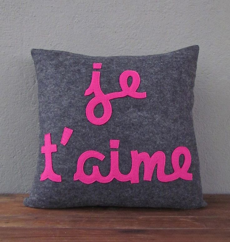 je t'aime pillow | red in fred