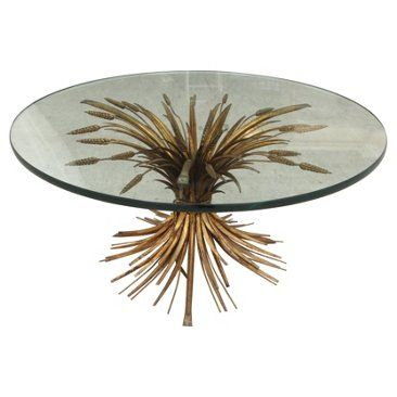 Check Out This Item At One Kings Lane! Brass U0026 Glass Wheat Coffee Table