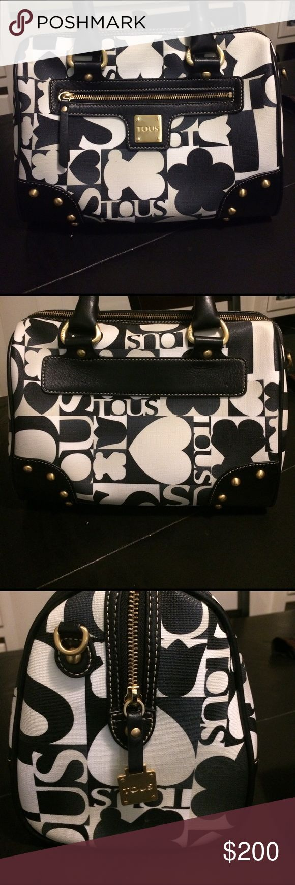 TOUS black and white shoulder bag In excellent preowned condition. TV original price since condition is excellent. TV 480 Tous Bags Shoulder Bags