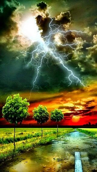 #Stormy Evening From the Board : Beautiful Technicolour. Pin All You Want!!! No Limits QJ & Happy Pinning!!