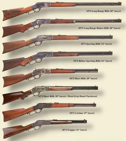 Some of the rifles used during this time. Rifles varied in size and it just depended on what was preferred. Rifles were often carried under the long trench coats and also on the side of horses for easy access in case something happened.