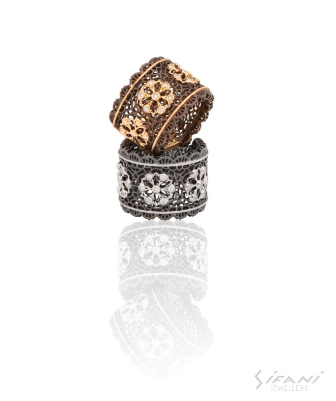 Intricately carvied bronze ring....