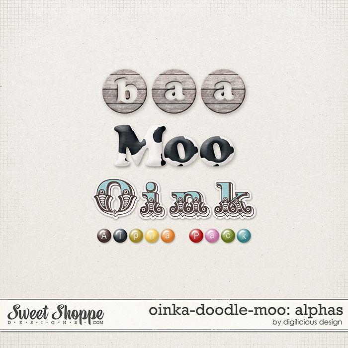 16 best {Oinka-Doodle-Moo} Digital Scrapbook Collection by - moo digital