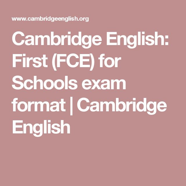 Cambridge English: First (FCE) for Schools exam format | Cambridge English