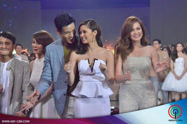 This is Jessy Mendiola, Xian Lim, Kim Chiu, and Bea Alonzo smiling for the camera after walking on the ASAP stage during the Parade of Star Magic Talents during Star Magic Day and Star Magic 23rd Anniversary on ASAP at ABS-CBN Studio 10 last July 26, 2015. Indeed, they're another of my favourite Kapamilyas and they're amazing Star Magic talents. #XianLim #KimChiu #ChinitaPrincess #KimXi #JessyMendiola #BeaAlonzo #StarMagic23 #starmagic23rdanniversary #ASAP20