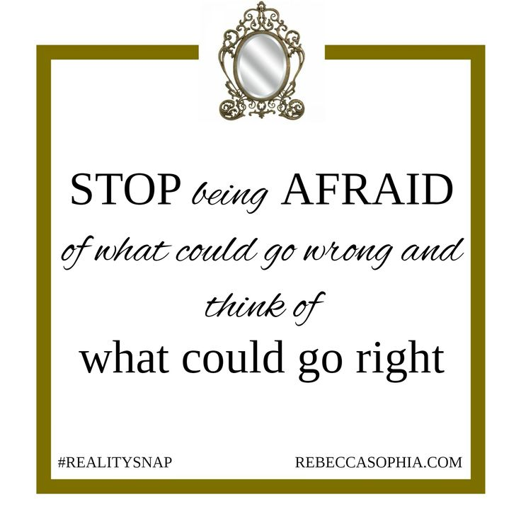 Stop being afraid of what could go wrong #RS http://rebeccasophia.com/takeoff