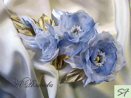 цветы из ткани органзы своими руками - Поиск в Google