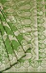 Pure Green Handloom Benarasi Silk Saree