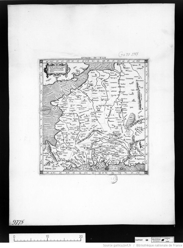 [Europae tertia tabula continens Europam] : [Gaule] / [Ptolémée]