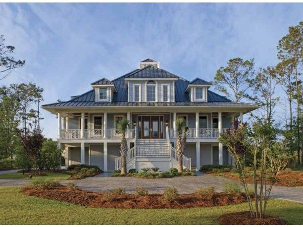 63 best cottages floor plans images on pinterest beach for Low country beach house plans