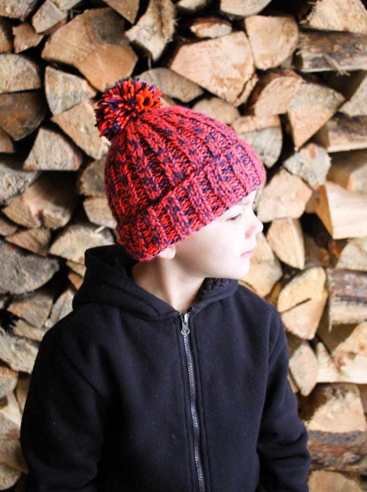 Great free ribbed beanie pattern!