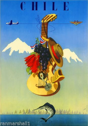 Chile-by-Airplane-South-America-Vintage-Travel-Advertisement-Art-Poster