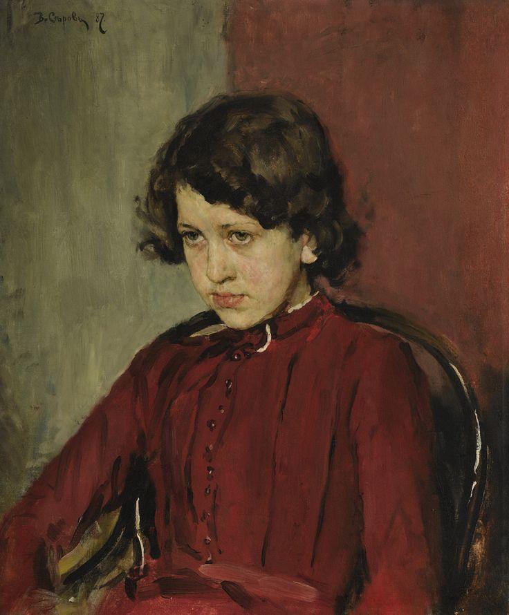 Portrait of Praskovia Anatolievna Mamontova by Valentin Serov