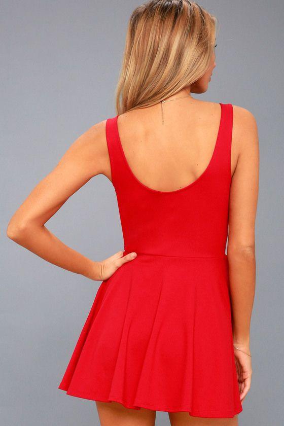 I Feel Good Red Skort Dress 3