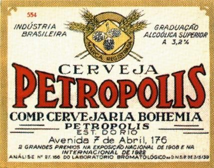 Cerveja Petrópolis - beer label