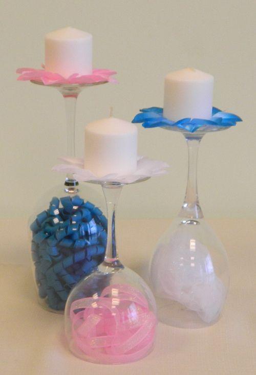 Interesting diy wine glass centerpieces baby shower