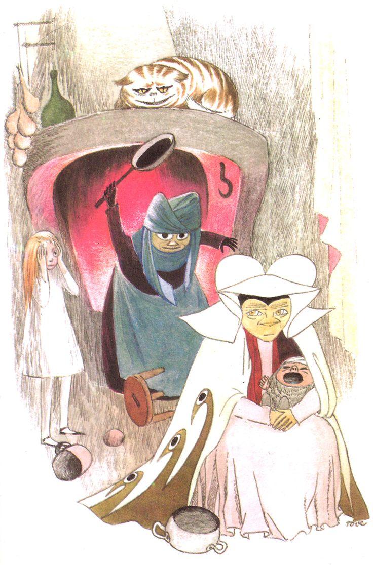 Tove Jansson.  Illustration for Alice in Wonderland