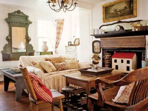 Red Room color combonationsCozy Living Room, Decor Ideas, Living Rooms, Living Spaces, Decorating Ideas, Country Living, Families Room, Dolls House, Green Room