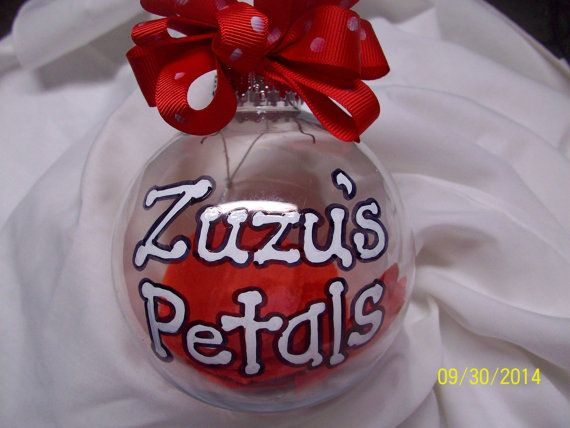 Zuzu's Petals Handpainted Ornament It's a by sweetpeapaint on Etsy