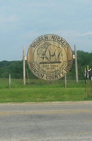 World's largest wooden nickle