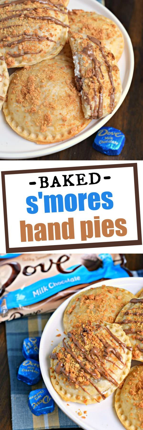 No campfire needed for these Ooey Gooey BAKED S'mores Hand Pies! They're filled…