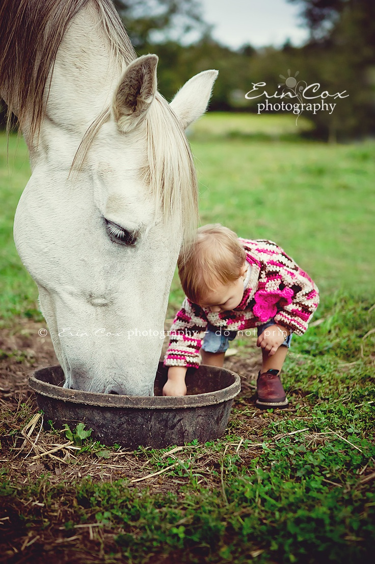 Baby & Horse they can be so gentle with little ones-would love a picture of Chloe like this
