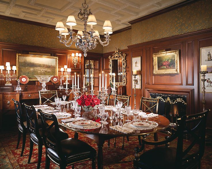 The Original Wood Paneling In Dining Room Of This Pittsburgh Georgian Style Home Is Enhanced