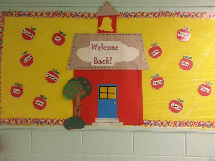 Back to school bulletin board at wca