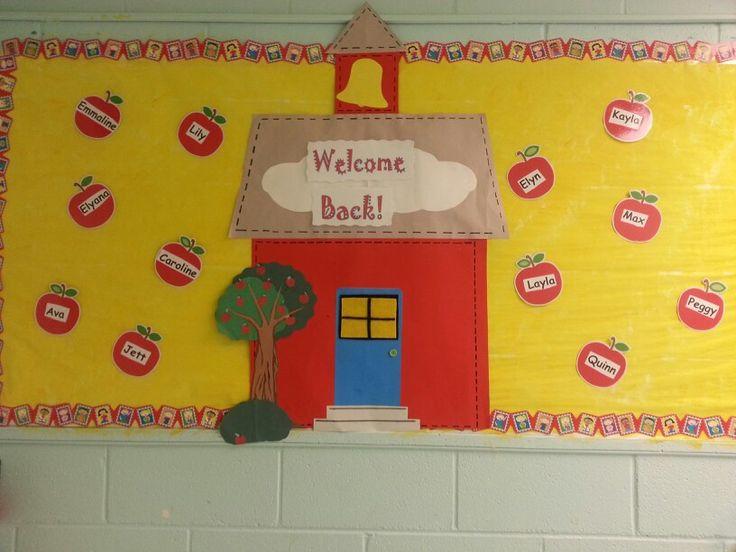 Classroom Decoration Ideas High School ~ Back to school bulletin board at wca