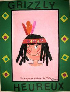 auto-portrait avec nom indien.