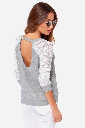 Grey and ivory sweater