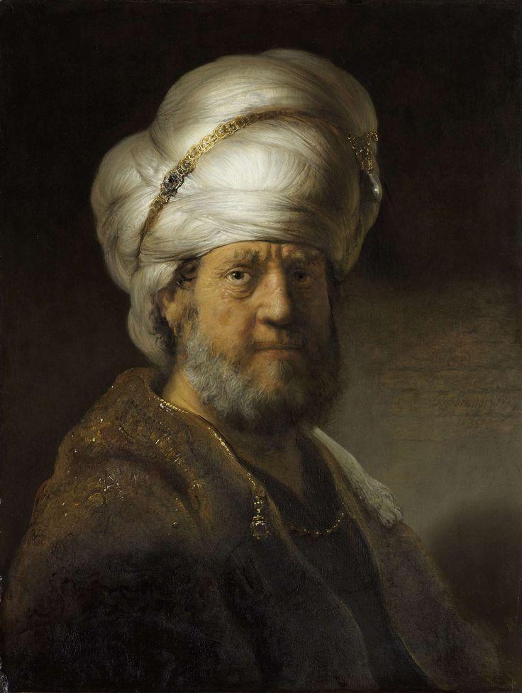 Man in oosterse kleding, Rembrandt Harmensz. van Rijn, 1635. #Rijksmuseum