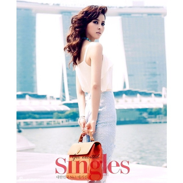 Han Hye Jin for Singles Magazine-edit ❤ liked on Polyvore